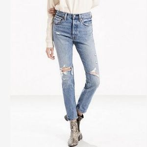Levi's Women Jeans Blue 501s Skinny Light Wash W27